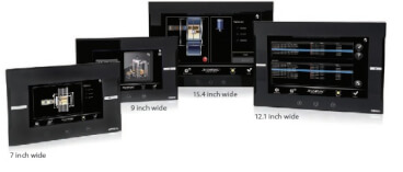 NA Series widescreens displaying prod