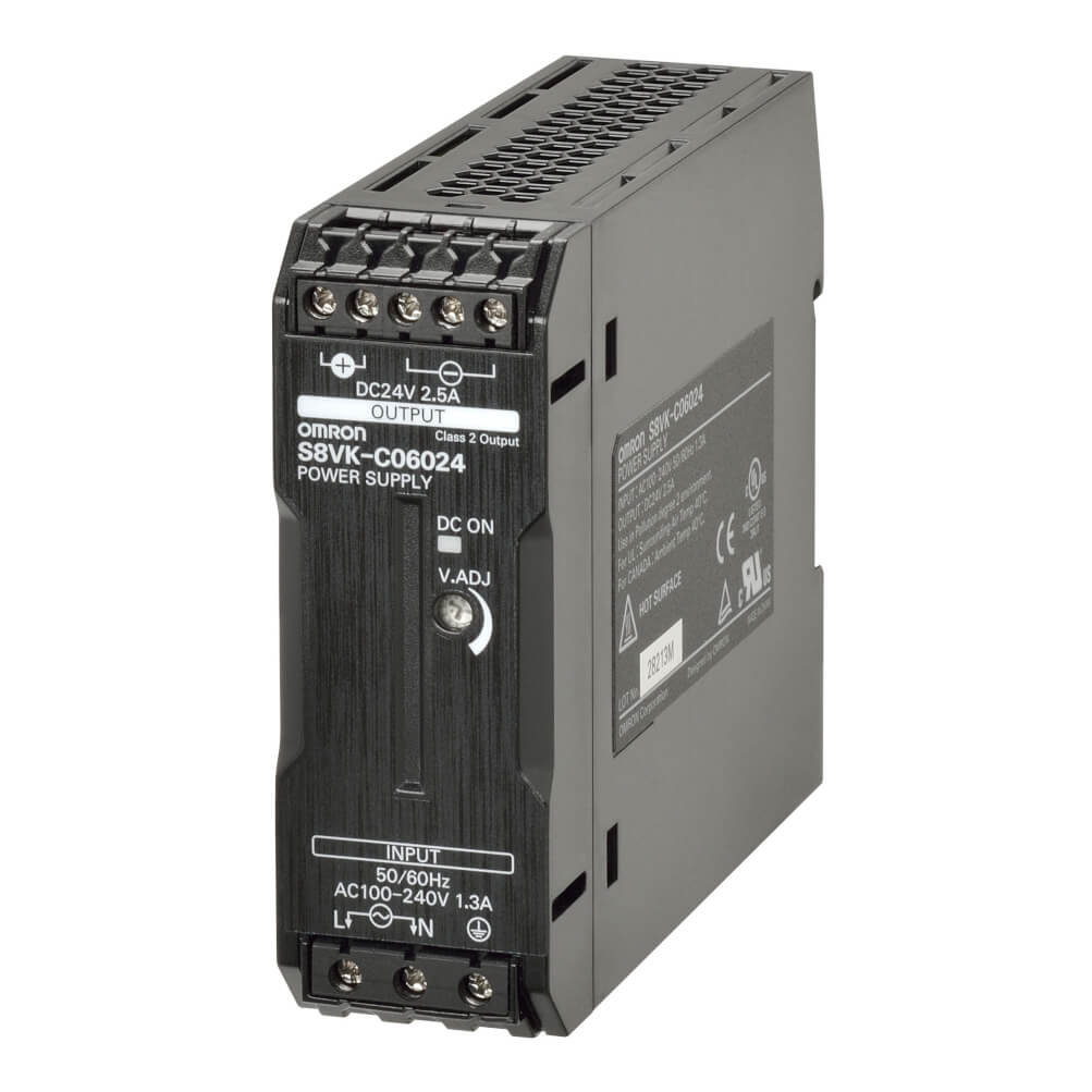 24VDC 2.5A 60 W DIN RAIL PSU GÜÇ KAYNAĞI | OMRON S8VK-C06024